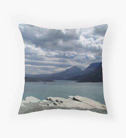 Many Glaciers - Glacier National Park Throw Pillow