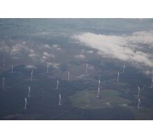 Clouds above windmills below Photographic Print
