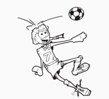 Goal! (Soccer Girl/black outline) by Jones1993