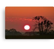 South Africa Sunset Canvas Print