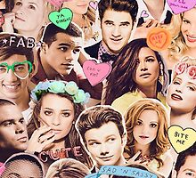 glee cast collage by Beatlemily