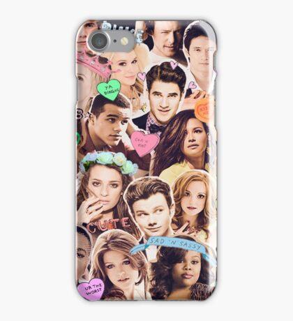 glee cast collage iPhone Case/Skin