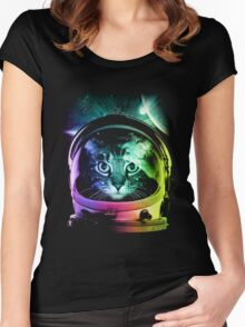 Astronaut Cat V.II Women's Fitted Scoop T-Shirt