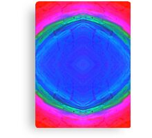 Psychedelic Sunburst - Bright Pink & Blue Canvas Print