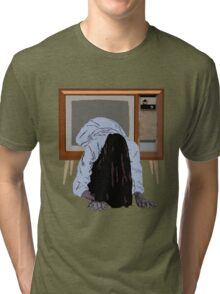 sadako's on the telly Tri-blend T-Shirt