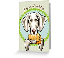 Weimaraner Happy Howlidays Christmas Card Greeting Card