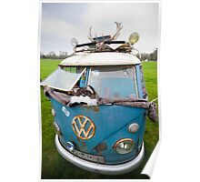 VW Hippy Split Screen Buss Poster