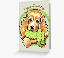 Cocker Spaniel Happy Howlidays Christmas Card Greeting Card