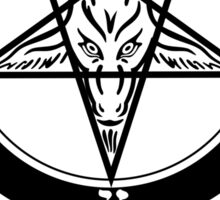 Deathcore -The Devil is a goat  Sticker