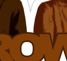 Brown Coats Sticker