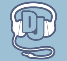 DJ head set simple graphic t-shirt by Sarah Trett