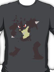 Lucario paint splatter shirt T-Shirt
