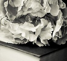 Peony in Black and White by EskimoKiss