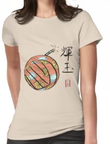 Amaterasu's Cherry Bomb Womens Fitted T-Shirt
