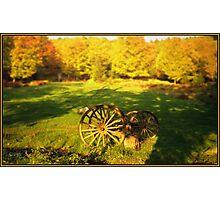 Wagon Wheels in an Autumn Field Photographic Print