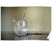 Splash Through the Glass Poster