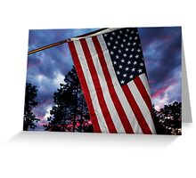 Sunset Flag Greeting Card