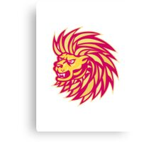 Angry Lion head Canvas Print