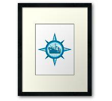 Passenger Cargo Ship Ocean Liner Compass Framed Print