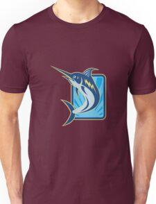 Blue Marlin Jumping Retro Unisex T-Shirt