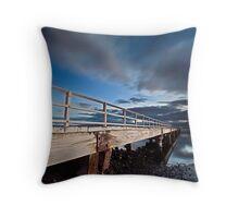 On The Jetty - Lake Illawarra Throw Pillow