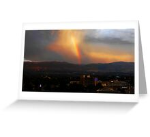 A rainbow over Kelowna Greeting Card