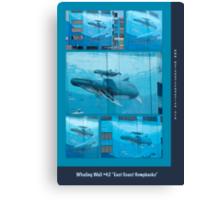 "Whaling Wall #42  ""East Coast Humpbacks"" - Original Painting by Wyland Canvas Print"