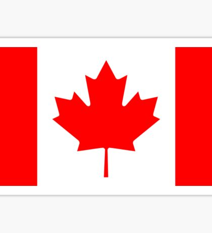 Canadian Flag - National Flag of Canada - Maple Leaf T-Shirt Sticker Sticker