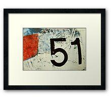 plane 51 Framed Print