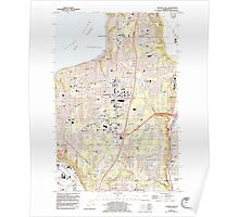 USGS Topo Map Washington State WA Poverty Bay 243269 1961 24000 Poster