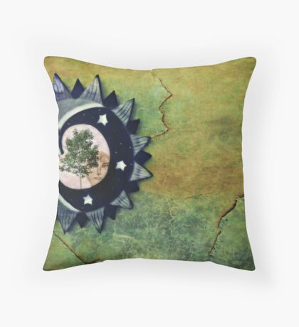 Memories in the mirror Throw Pillow