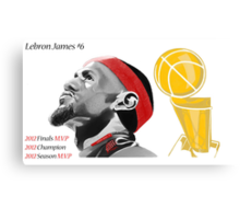 Lebron James First Ever Title Canvas Print