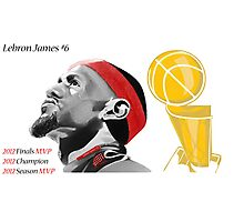 Lebron James First Ever Title Photographic Print