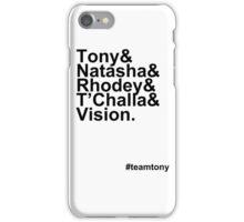 Team Tony iPhone Case/Skin
