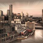 Sunset Over Melbourne by peterperfect