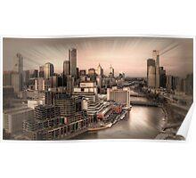 Sunset Over Melbourne Poster