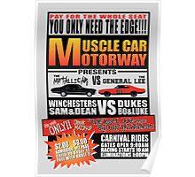 MuscleCar Motorway - Winchesters Vs Dukes Poster