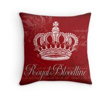 Royal Bloodline - Red Throw Pillow