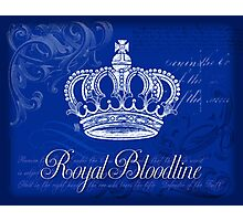 Royal Bloodline - Blue Photographic Print