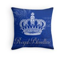 Royal Bloodline - Blue Throw Pillow