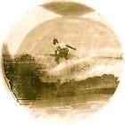 Surfer - Antiqued by Vikki-Rae Burns