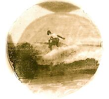Surfer - Antiqued Photographic Print