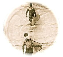 Heading In - Antiqued Photographic Print