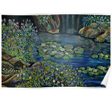 Waterlillies in the pond Poster