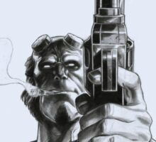 Hellboy - Clint Eastwood Pose Sticker
