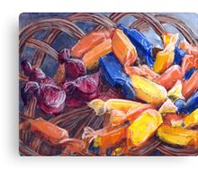 Basket of Candy Canvas Print