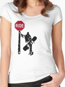 snowboard : directions? Women's Fitted Scoop T-Shirt