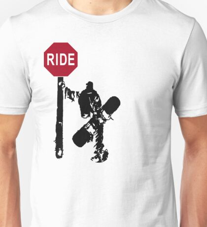 snowboard : directions? Unisex T-Shirt