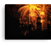 """""""COLONIAL GOVERNOR PALACE FIREWORKS"""" Canvas Print"""