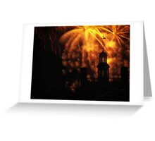 """""""COLONIAL GOVERNOR PALACE FIREWORKS"""" Greeting Card"""